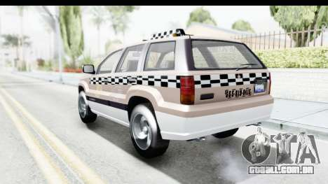 GTA 5 Canis Seminole Taxi Saints Row 4 para GTA San Andreas vista direita