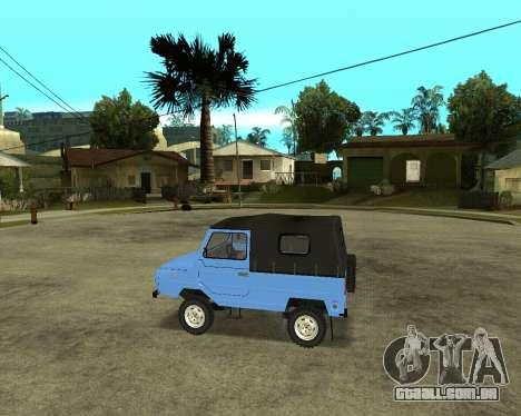 Luaz 969 Armenian para GTA San Andreas vista traseira