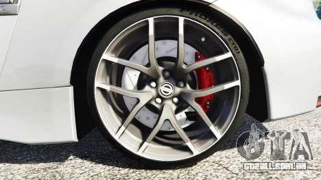 GTA 5 Nissan 370Z Nismo Z34 2016 [replace] traseira direita vista lateral