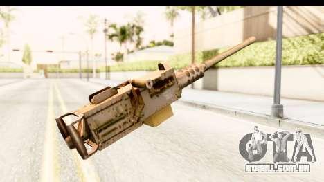 M2 Browning para GTA San Andreas segunda tela
