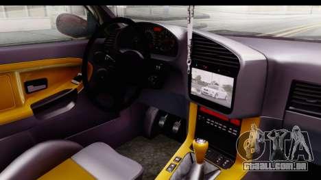 BMW M3 E36 Spermatozoid Edition para GTA San Andreas vista interior