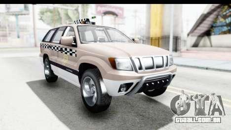 GTA 5 Canis Seminole Taxi Saints Row 4 para GTA San Andreas traseira esquerda vista