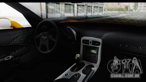 NFS Carbon Chevrolet Corvette para GTA San Andreas vista interior