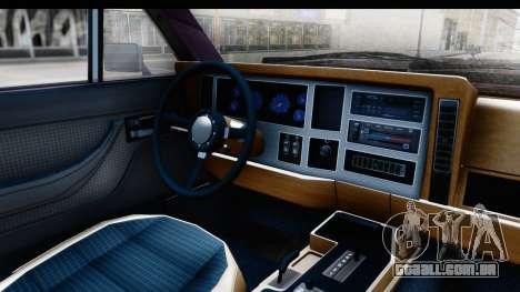 Jeep Grand Wagoneer para GTA San Andreas vista traseira