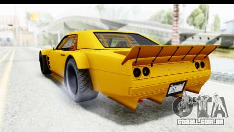 GTA 5 Declasse Drift Tampa para GTA San Andreas esquerda vista