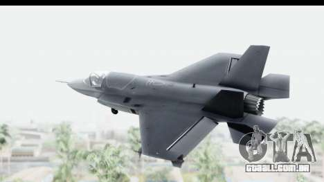Lockheed Martin F-35B Lightning II para GTA San Andreas vista direita
