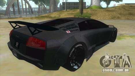 Lamborghini Liberty Walk para GTA San Andreas vista direita