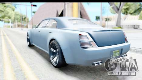 GTA 5 Enus Windsor Drop IVF para GTA San Andreas esquerda vista
