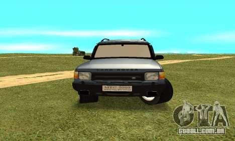 Land Rover Discovery 2B para GTA San Andreas vista traseira