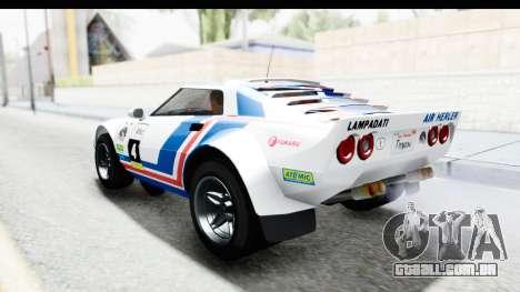 GTA 5 Lampadati Tropos SA Lights para GTA San Andreas vista superior