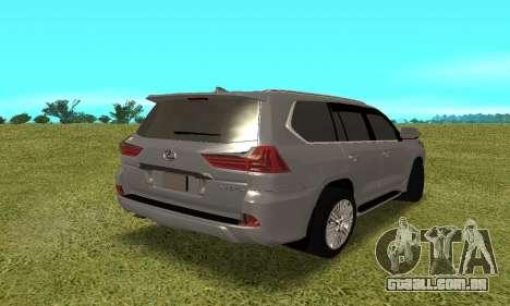 Lexus LX570 para GTA San Andreas vista direita