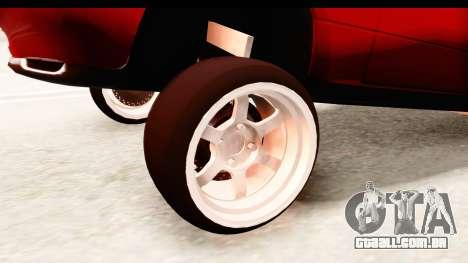 Mazda Miata with Crazy Camber para GTA San Andreas vista traseira