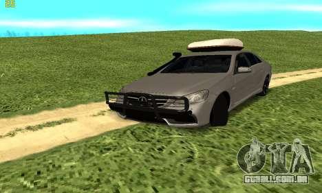 Mercedes Benz E63 AMG para GTA San Andreas vista traseira