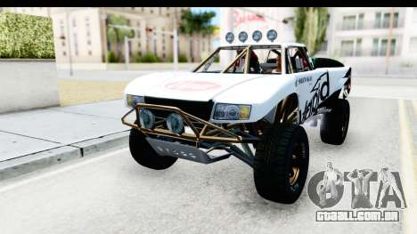 GTA 5 Trophy Truck SA Lights para GTA San Andreas vista inferior