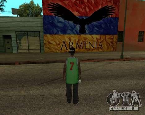 Grove Street Armenian Flag para GTA San Andreas segunda tela