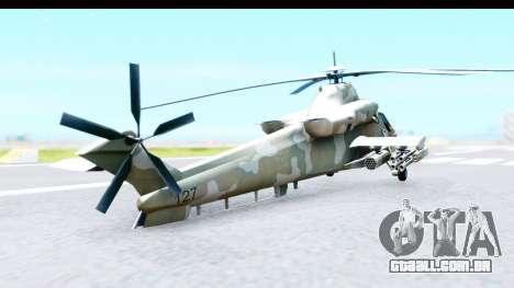 Denel AH-2 Rooivalk para GTA San Andreas traseira esquerda vista