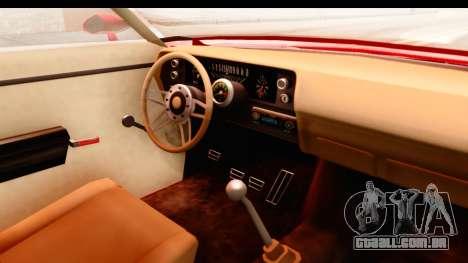 Ford Torino para GTA San Andreas vista interior