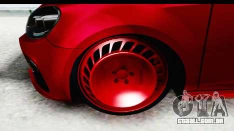 Volkswagen Golf R para GTA San Andreas vista traseira