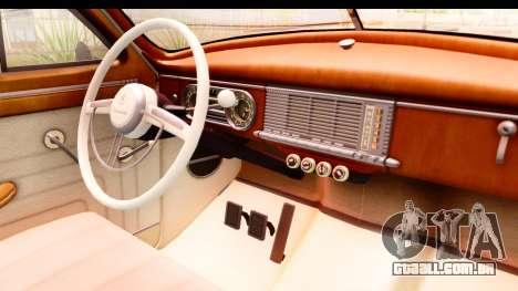 Packard Standart Eight 1948 Touring Sedan para GTA San Andreas vista interior