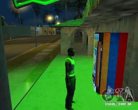 Automático novo Feno-Cola e arménio Bandeira para GTA San Andreas por diante tela