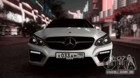 Mercedes-Benz E63 GSC para GTA San Andreas esquerda vista