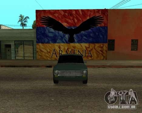 VAZ 2101 Armenian para GTA San Andreas vista direita