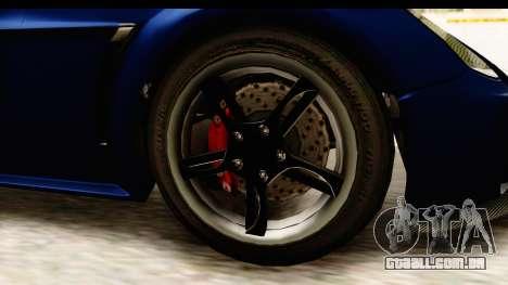 GTA 5 Dewbauchee Rapid GT para GTA San Andreas vista traseira