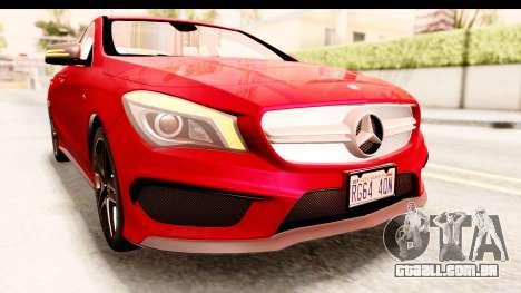 Mercedes-Benz CLA45 AMG 2014 para GTA San Andreas vista superior