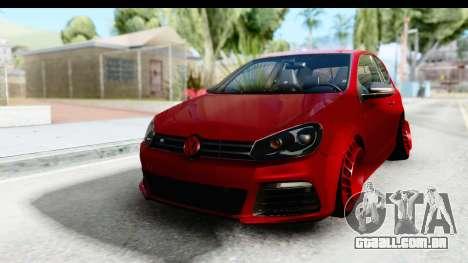 Volkswagen Golf R para GTA San Andreas traseira esquerda vista