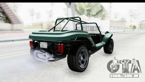 GTA 5 BF Bifta v2 SA Style para GTA San Andreas esquerda vista