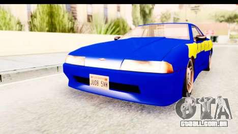 NFSU2 Tutorial Skyline Paintjob for Elegy para GTA San Andreas traseira esquerda vista