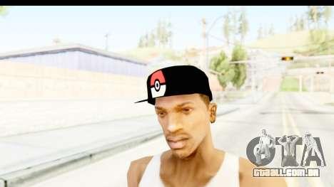 Cap Pokemon Pokeball para GTA San Andreas segunda tela