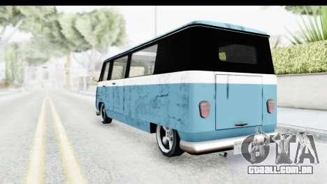 New Camper para GTA San Andreas traseira esquerda vista