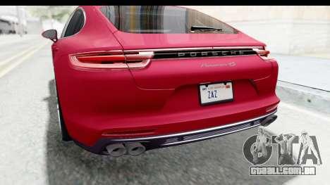 Porsche Panamera 4S 2017 v2 para GTA San Andreas interior