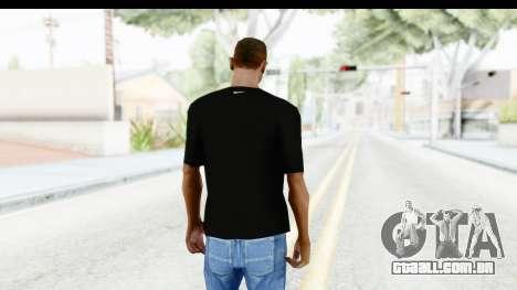 Nike MVP T-Shirt para GTA San Andreas terceira tela