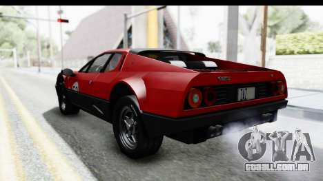 Ferrari 512 GT4 BB 1976 para GTA San Andreas vista inferior