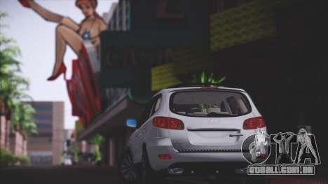Hyundai Santa Fe Stock para GTA San Andreas vista traseira