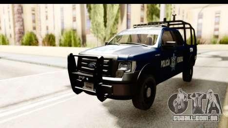 Ford F-150 Federal Police para GTA San Andreas traseira esquerda vista