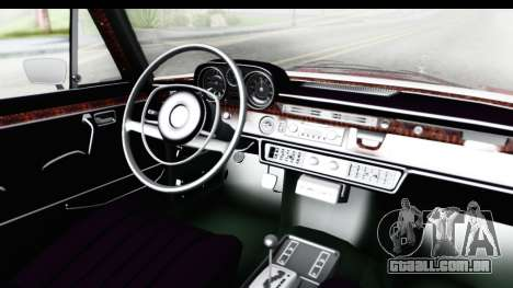 Mercedes-Benz 300SEL para GTA San Andreas vista interior