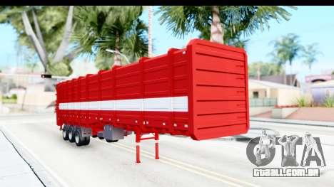 Trailer Cargo para GTA San Andreas vista direita