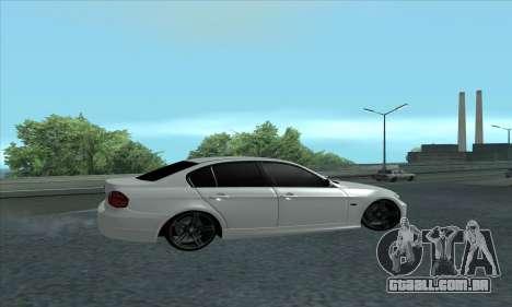 BMW 325i E90 para GTA San Andreas traseira esquerda vista