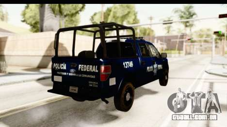 Ford F-150 Federal Police para GTA San Andreas vista direita