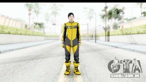 GTA 5 DLC Cunning Stuns Female Skin para GTA San Andreas segunda tela