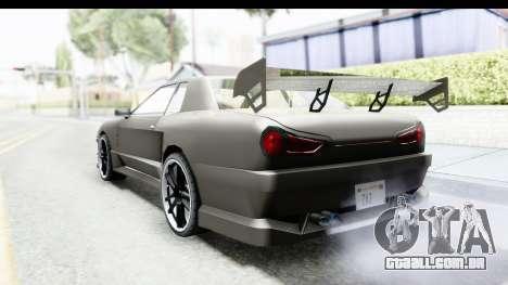 Elegy Sport Type v1 para GTA San Andreas esquerda vista