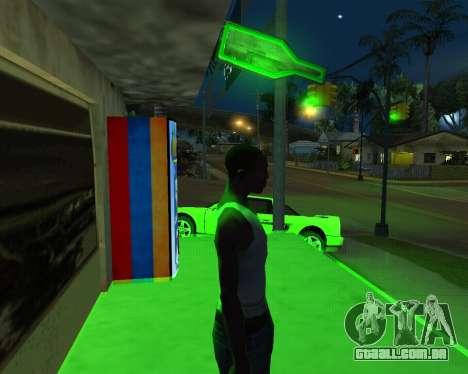 Automático novo Feno-Cola e arménio Bandeira para GTA San Andreas segunda tela
