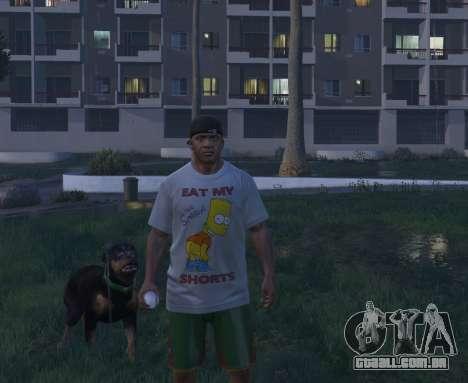 GTA 5 Bart Simpson T-Shirt for GTA V quarto screenshot