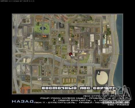 Grove Street Armenian Flag para GTA San Andreas quinto tela