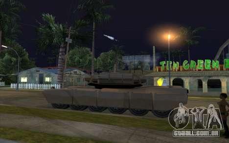 O efeito de disparo de tanque para GTA San Andreas segunda tela