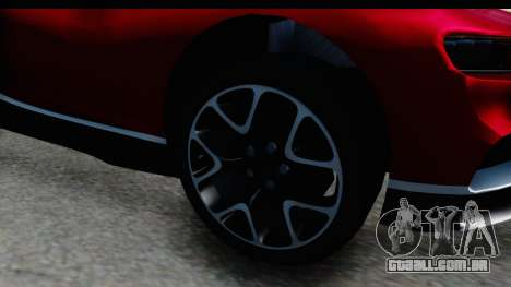 Bugatti Chiron 2017 v2 para GTA San Andreas vista traseira