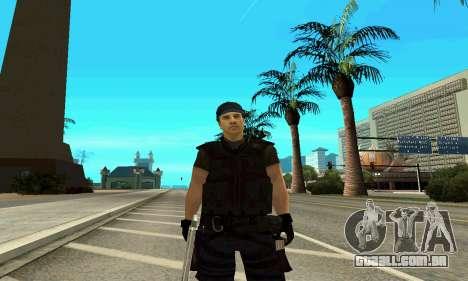 Instrutor da SWAT para GTA San Andreas por diante tela